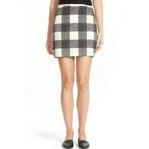 Madewell Check Skirt